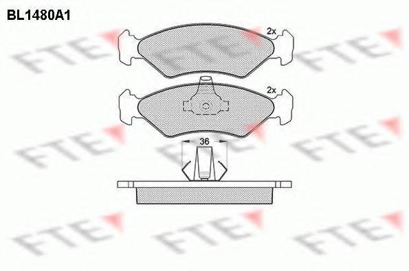FTE BL1480A1 Комплект тормозных колодок, дисковый тормоз