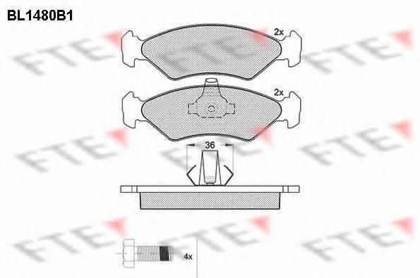 FTE BL1480B1 Комплект тормозных колодок, дисковый тормоз