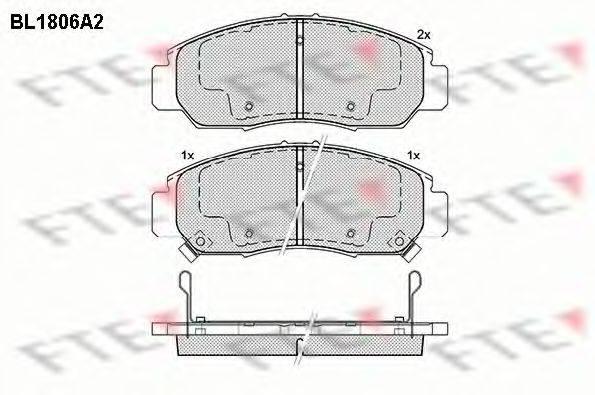 FTE BL1806A2 Комплект тормозных колодок, дисковый тормоз