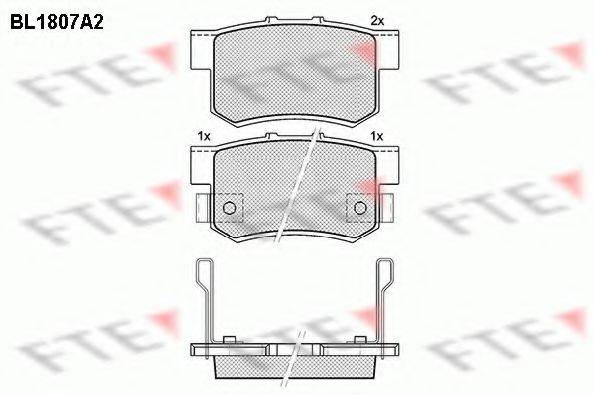 FTE BL1807A2 Комплект тормозных колодок, дисковый тормоз