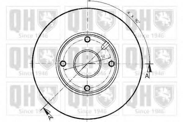 QUINTON HAZELL BDC3850 Тормозной диск
