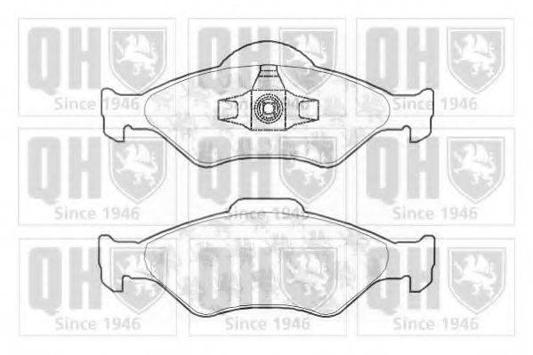QUINTON HAZELL BP1260 Комплект тормозных колодок, дисковый тормоз