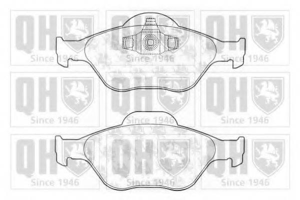 QUINTON HAZELL BP1261 Комплект тормозных колодок, дисковый тормоз