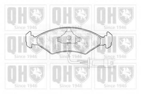 QUINTON HAZELL BP160 Комплект тормозных колодок, дисковый тормоз