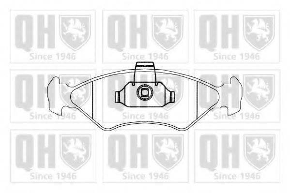 QUINTON HAZELL BP875 Комплект тормозных колодок, дисковый тормоз