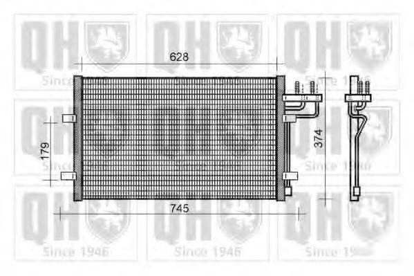 QUINTON HAZELL QCN398 Конденсатор, кондиционер