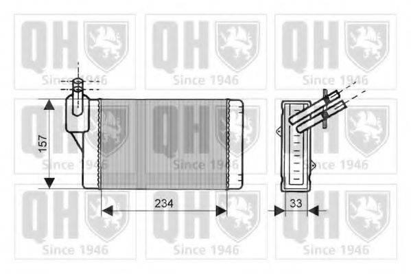 Теплообменник, отопление салона QUINTON HAZELL QHR2019