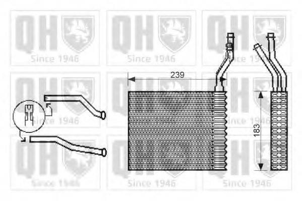 QUINTON HAZELL QHR2203 Теплообменник, отопление салона