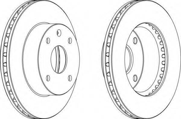 FERODO DDF12571 Тормозной диск