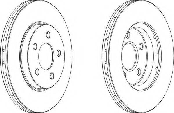FERODO DDF13761 Тормозной диск