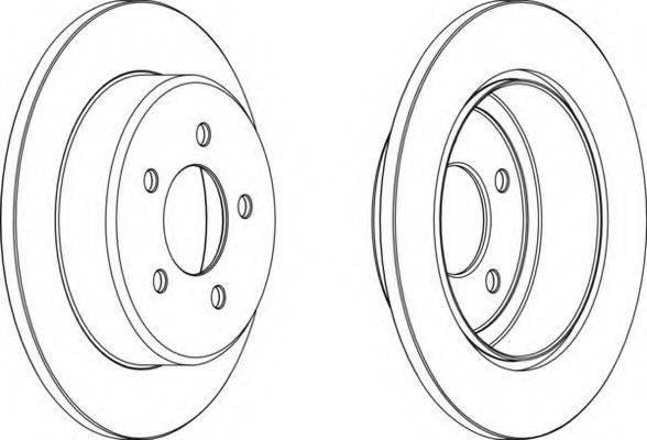 FERODO DDF14921 Тормозной диск