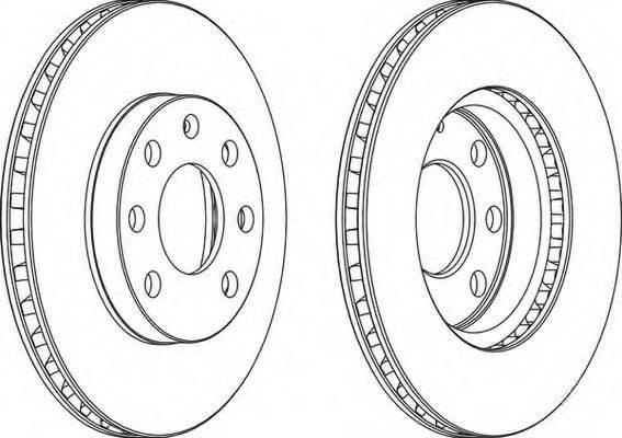 FERODO DDF151C1 Тормозной диск