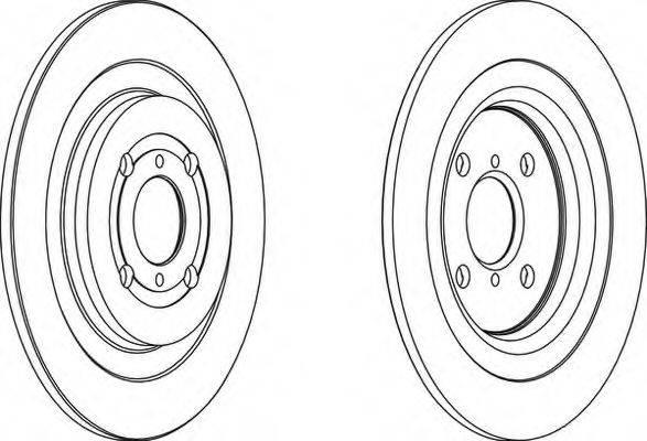 FERODO DDF15881 Тормозной диск