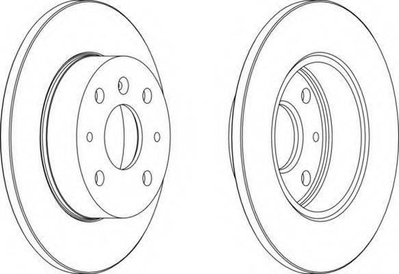 FERODO DDF7551 Тормозной диск