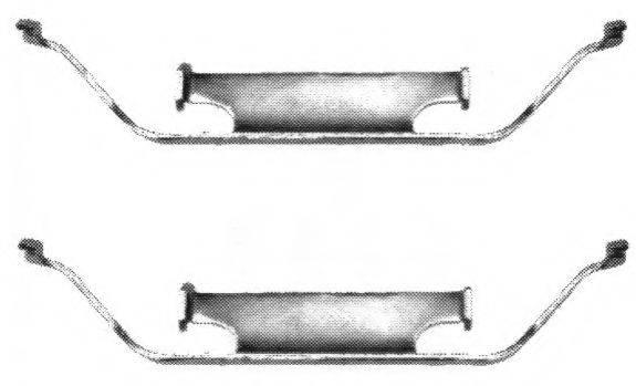 FERODO FBA484 Комплектующие, колодки дискового тормоза
