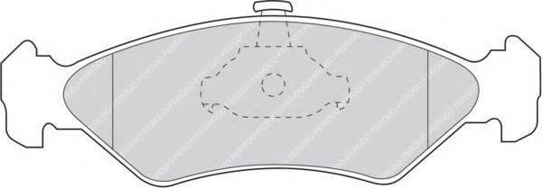 FERODO FDB1082 Комплект тормозных колодок, дисковый тормоз
