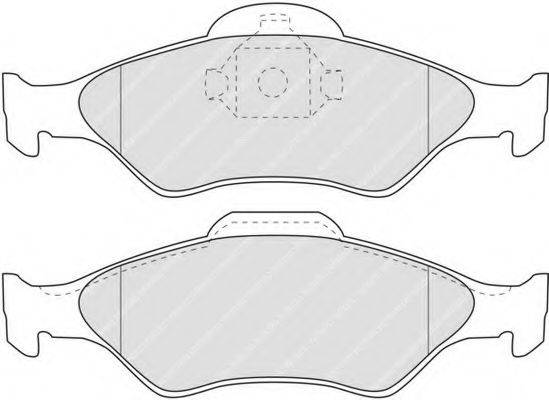FERODO FDB1393 Комплект тормозных колодок, дисковый тормоз