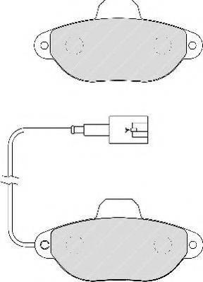 FERODO FDB1944 Комплект тормозных колодок, дисковый тормоз