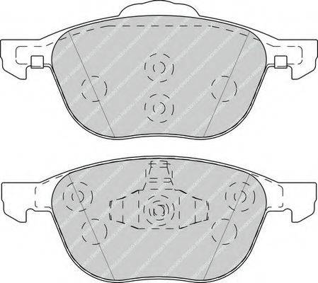 FERODO FDB4319 Комплект тормозных колодок, дисковый тормоз