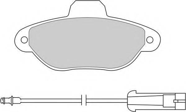FERODO FDB925 Комплект тормозных колодок, дисковый тормоз