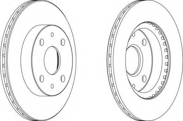 FERODO DDF1394 Тормозной диск