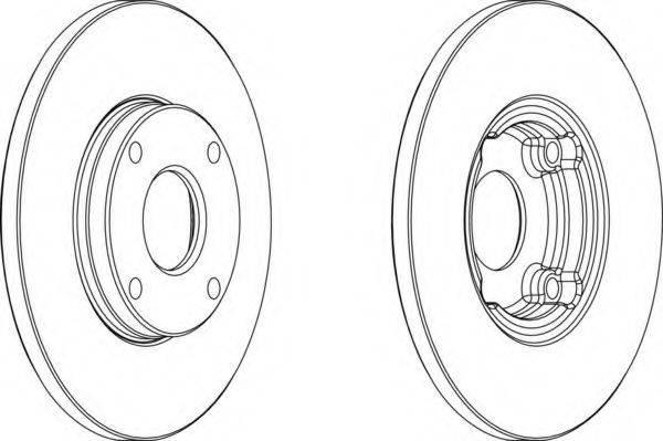 FERODO DDF422 Тормозной диск