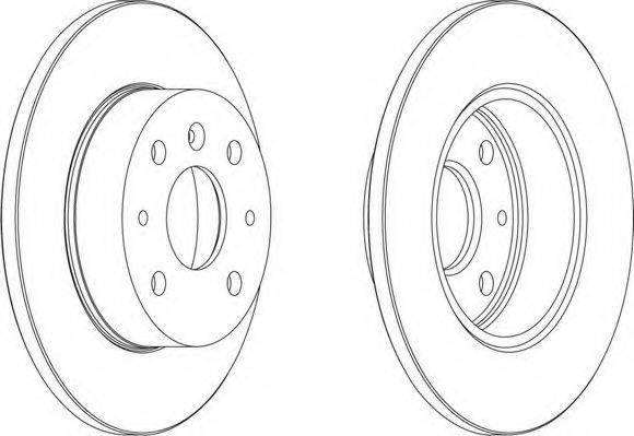 FERODO DDF755 Тормозной диск