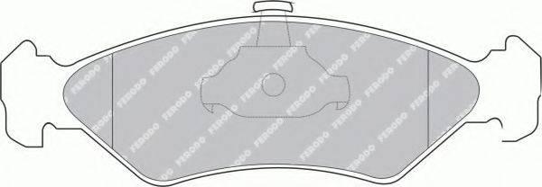 FERODO FSL1082 Комплект тормозных колодок, дисковый тормоз