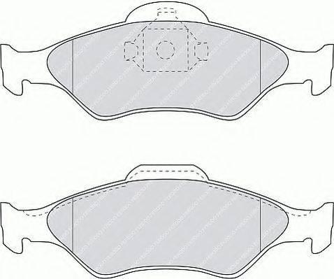 FERODO FSL1393 Комплект тормозных колодок, дисковый тормоз