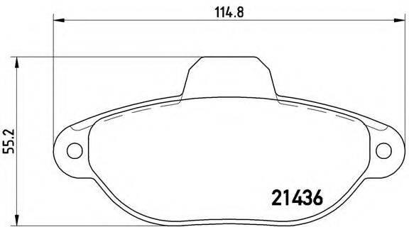 BREMBO P23160 Комплект тормозных колодок, дисковый тормоз