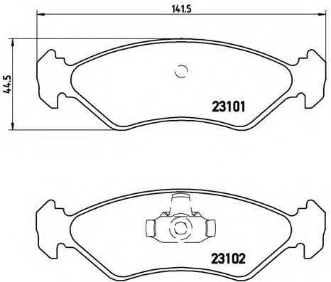 BREMBO P24044 Комплект тормозных колодок, дисковый тормоз