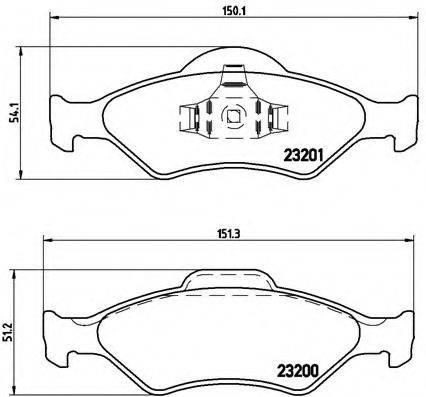 BREMBO P24054 Комплект тормозных колодок, дисковый тормоз