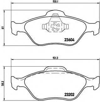 BREMBO P24055 Комплект тормозных колодок, дисковый тормоз