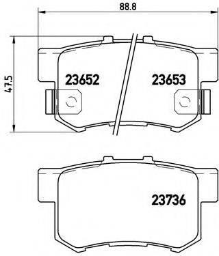 BREMBO P28039 Комплект тормозных колодок, дисковый тормоз