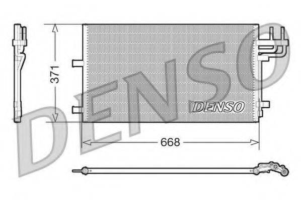 DENSO DCN10007 Конденсатор, кондиционер