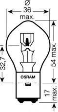 Лампа накаливания, фара дальнего света; Лампа накаливания, основная фара; Лампа накаливания, основная фара; Лампа накаливания, фара дальнего света OSRAM 7327