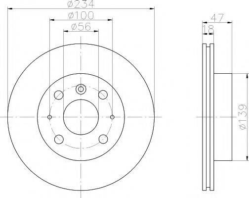 MINTEX MDC1032 Тормозной диск