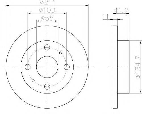 MINTEX MDC1471 Тормозной диск