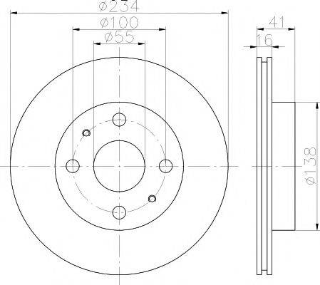 MINTEX MDC1400 Тормозной диск