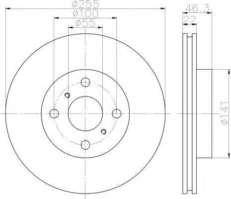 MINTEX MDC2062 Тормозной диск