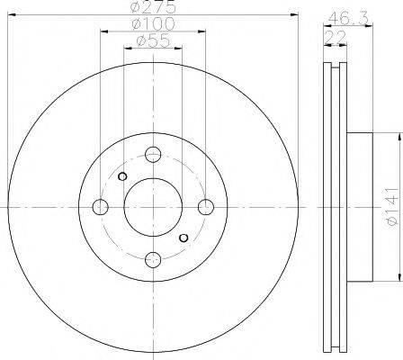 MINTEX MDC2061 Тормозной диск