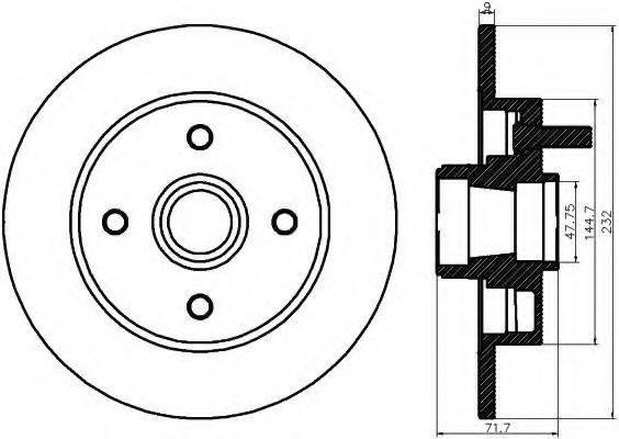 MINTEX MDC1291 Тормозной диск