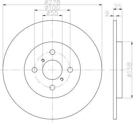 MINTEX MDC1824 Тормозной диск