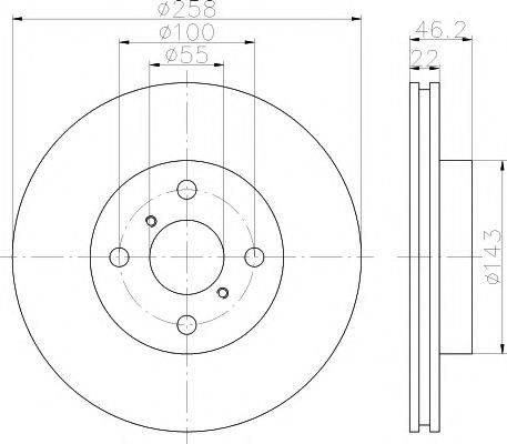 MINTEX MDC1832 Тормозной диск