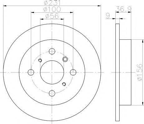 MINTEX MDC1191 Тормозной диск