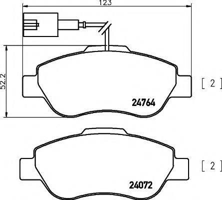 MINTEX MDB3316 Комплект тормозных колодок, дисковый тормоз