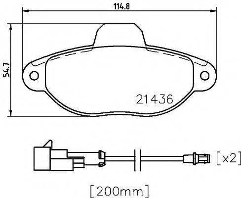 MINTEX MDB3317 Комплект тормозных колодок, дисковый тормоз
