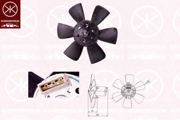 KLOKKERHOLM 95212603 Вентилятор, охлаждение двигателя