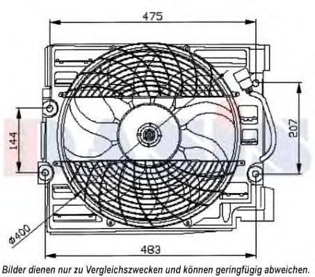AKS DASIS 058050N Вентилятор, охлаждение двигателя