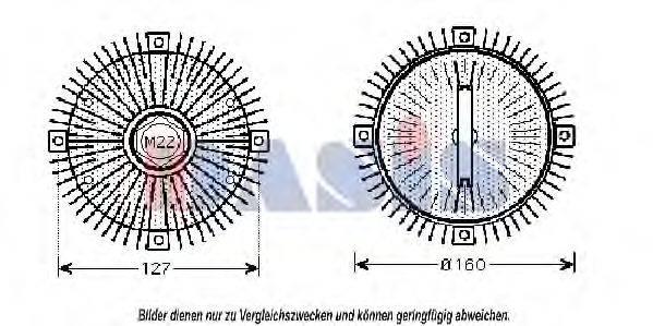 AKS DASIS 058150N Сцепление, вентилятор радиатора